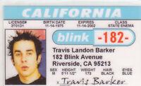 Travis Rock Group Blink182 Drummer - Riverside California CA Drivers License