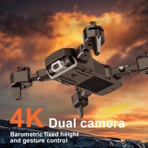 √Drone Pro WIFI FPV 4K HD Dual Camera Battery Foldable Selfie RC Quadcopter UK√