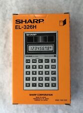 Sharp Solar Cell Calculator EL-326H Elsimate New In Box!