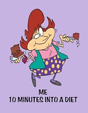 METAL REFRIGERATOR MAGNET Woman Me 10 Minutes Into Diet Friend Family Humor