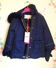 Ted Baker Girls Bow Detail Coat / Jacket & Mittens. 12-18 Months. Designer