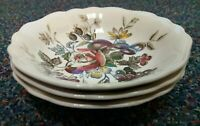 Vintage England Staffordshire Gainsborough J & G Meakin England 3 Dessert Bowls