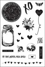 LOVE CLIPPINGS - PRIMA MARKETING CLING STAMP SET