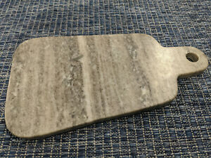 USED Crate & Barrel Marble Paddle Server Charcuterie Cheese Board