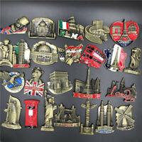 3D Unique Style World Metal Fridge Magnet US UK Home Decor Holiday Souvenir Gift