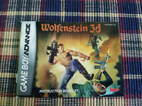 Wolfenstein 3D - Authentic - Nintendo Game Boy Advance - GBA - Manual Only!