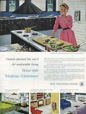 1960 Bell Telephone PRINT AD Wall or desk phone convenience