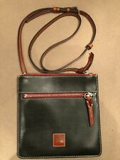 DOONEY & BOURKE BORDEAUX Hunter Green FLORENTINE LEATHER Double Zip CROSSBODY