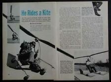 Igor Bensen Gyro-Glider Kit Helicopter 1954 pictorial