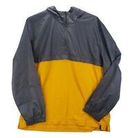 Under Armour Wind Anorak 1/4 Zip Shirt Jacket Men's Gray Yellow 2XL XXL Hoodie