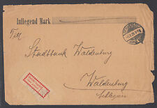 Germany, 1923 Halle local, Mi 1Ia on 1923 cover front, GERSTEDT-WALDENBURG