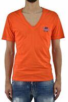 Dsquared2 T-Shirt Orange Homme Imprimé Graphique Mod.S71GD0123S21600186