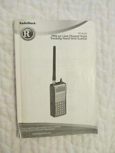 Radioshack PRO-97 Owners Manual