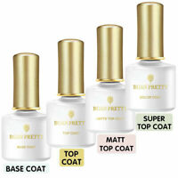 Non-wipe TOP Coat & BASE Coat Gel Born Pretty Soak Off UV LED Gel Nail Polish