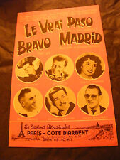 Spartito il vero paso Margelli Bravo Horner Di Madrid Aimable Besson 1964