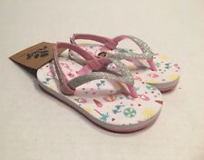 5754a0ea77c3 Reef Little Stargazer Prints Flip Flops Pink Beach Baby Girl Size 3 4 New