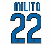 MILITO #22 INTER MILAN 2009-2010 Away Maglietta da calcio Nameset per