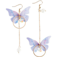 Summer Asymmetric Butterfly Alloy Earrings Long Paragraph Wing Earrings Jewelry
