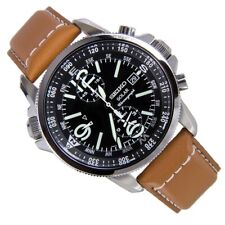 SEIKO SSC081P1 Solar Chronograph 41mm Leather Strap Men's Watch