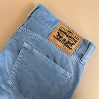 Levi 511 Jeans Slim Fit Zip Fly Blue Vintage Men's (PatchW34L34) W 34 L 33