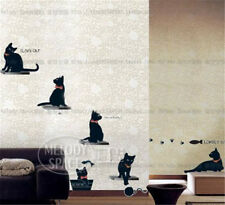 Black Cat Family Home Room Decor Removable Wall Stickers Decal Decorations