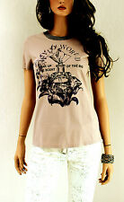 Marccain Damen Shirt Top Baumwolle N1 34 XS Taupe