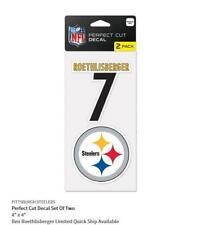 B.Roethlisberger Pittsburgh Steelers 2 Sticker Decal Badge Emblem Nfl Football