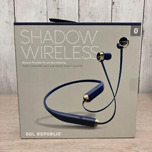 Sol Republic Shadow Bluetooth Wireless Headphones, Navy/Gold, Brand New In Box