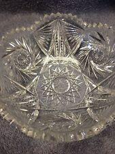 ANTIQUE ABP AMERICAN BRILLIANT CUT GLASS BOWL