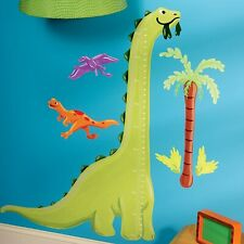 Dino Growth Chart Peel and Stick Vinyl Decals Wall Stickers Kids Growth Chart