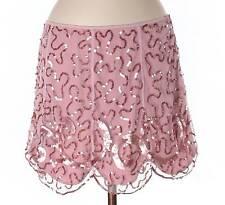 NWT Betsey Johnson Evening Blush Pink Scalloped Edge Mini Skirt Size 8