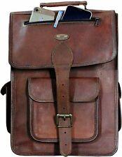 """Leather Rucksack Shoulder Laptop Backpack School Collage traveling Bag 16"""" Men's"""