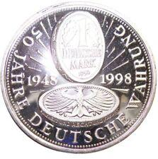 A461) Medal 1 marcos alemanes 1950 50 años de moneda alemana 1948-1998