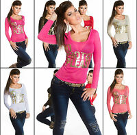 Womens Clubbing Top Ladies Party Blouse Sexy Party Shirt Size 6 8 10 12 34 36