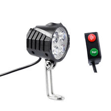 Ebike 12V-80V Electric Bicycle Light with Horn Waterproof Headlight Horn Set