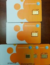 Lot Of 100 At&T Factory Micro 4G sim card sku40954 New Ready to Activate