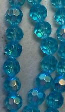 Light Blue AB Crystal Round Loose Spacer Beads 10 Strands Total 260 Beads
