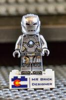 LEGO Marvel Avengers End Game Iron Man MK 1 minifigure from Lego set 76125 Mark