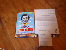 Reg Varney Autobiography The Little Clown first edition +RARE press release! ONE
