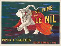 Original Vintage Poster French Cappiello Le Nil Elephant Tobacco 1912 Cigarettes