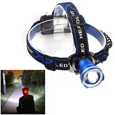 8000 Lumens Zoomable  XM-L T6 LED Head Torch Headlamp Headlight Head Torch FT
