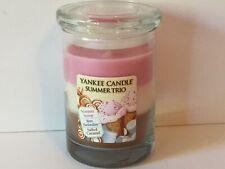 NEW Yankee Candle SUMMER TRIO 10 oz Jar Layered Candle -  HTF!!
