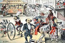 Italian Opera Singers STREET MUSICIANS 1884 GERMAN MUSIC TENORS THEATER Puck Art