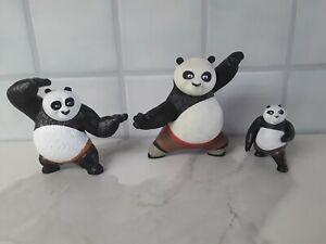Dreamworks Kung Fu Panda Po panda Toys - Lot Of 3