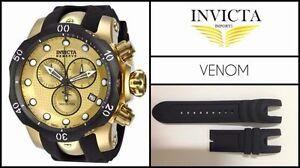 New Black Silicone Rubber Watch Band Strap For Invicta VENOM