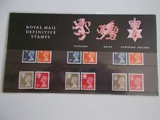 1990 Machin Definitive Regionals (3) 17p to 37p Presentation Pack no 23 Cat £16