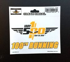 2016 Indianapolis 500 100th Running Anniversary Event Collector Decal Sticker