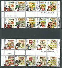 La grande-bretagne 2012 comics lot de 10 gouttière paires non montés mint, neuf sans charnière.