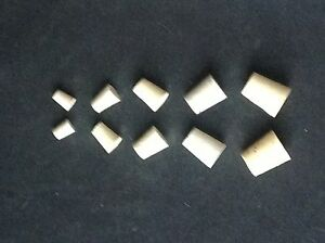 2 PAIRS (4) CORK STOPPERS - Many Size CHOICES Fit Vintage Salt & Pepper SHAKERS