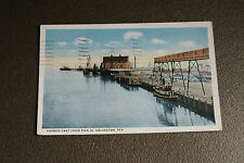 Old Vintage Postcard 1925 Harbor East from Pier 20 Galveston Texas Ships Boats